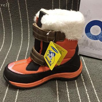 wallvell Girls winter boots children 's cotton boots non - slip waterproof and thicker ski boots
