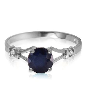 14k Yellow, White, Rose Gold Ring with Natural Diamonds and Sapphire