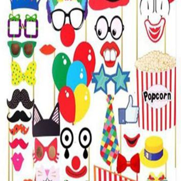 Circus Carnival Clown Photo Booth Props For Birthday and Kids Party - PRA122