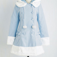 Vintage Inspired Fit & Flare For the Winnipeg Coat in Sky
