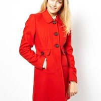 Liquorish Peter Pan Collar Coat -