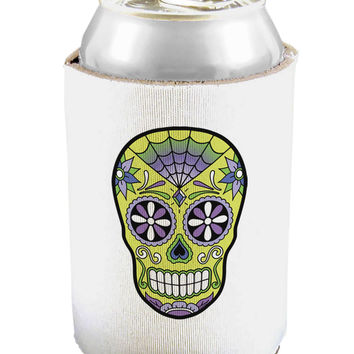 Version 7 Poison Day of the Dead Calavera Can and Bottle Insulator Cooler