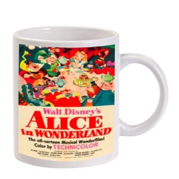 Gift Mugs | Vintage Disney Poster Alice In Wonderland Ceramic Coffee Mugs