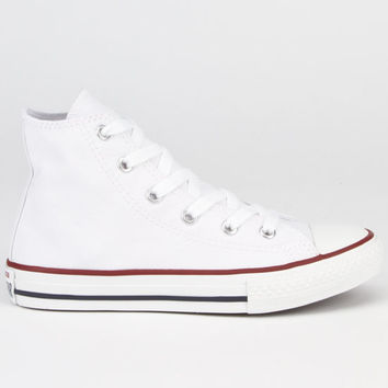 Converse Chuck Taylor Core Hi Kids Shoes Optical White  In Sizes