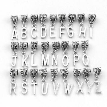 Charm Bracelets Beads 26pcs/lot Mixed Letter Floating Dangle Pandora