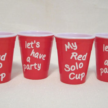 Mini My Red Solo Cup Shot Glasses