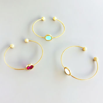 Elegant Eliza Crystal Bangles - in 3 Colors