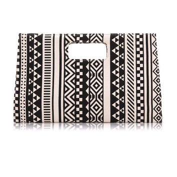 Geometric Pattern Clutch Handbag