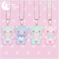 Pastel ice-cream bear Necklace