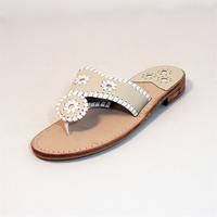 Jack Rogers Palm Beach Navajo - Bone / White