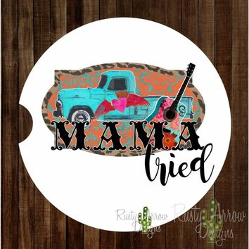 Vintage Truck Mama Tried Sandstone Car Coaster