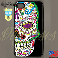 Sugar Skull iPhone case 5 - iPhone 4 Case iPhone 4S Case iPhone 5 Case