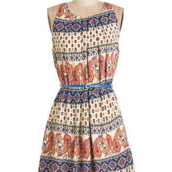 ModCloth Sleeveless Tent Great Wavelengths Dress in Paisley