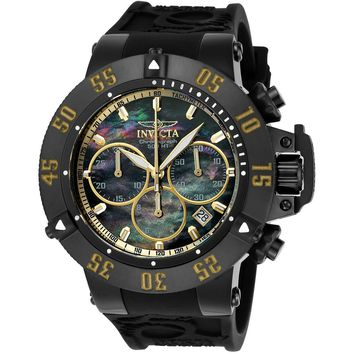 Invicta Men's 22920 Subaqua Quartz Chronograph Black, Gold Dial Watch