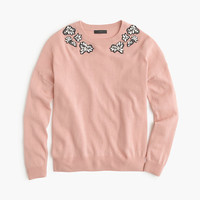 J.Crew Womens Opal-Embellished Sweater