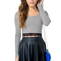 Selene Striped Crop