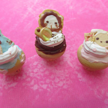 Polymer Clay Sentimental Circus Character Inspired Cupcakes