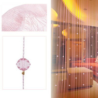 Romatic String Curtain With Beads Decor Tassels Fly Insect Door Screen Divider Window Panel Room Divider 2016 New