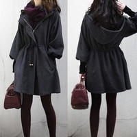 NEW Womens Slim WOOL Trench Coat Parka Jacket Fashion Outerwear Winter Coat