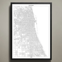 Map Print, CHICAGO