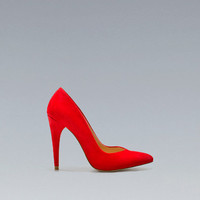 BASIC SUEDE COURT SHOE - High-heels - Shoes - Woman - ZARA United States
