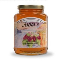Gourmet Blackberry Honey, 18 oz Elegant Glass Jar - Natural, Raw Honey - by Anna's Honey (Pack of 3)
