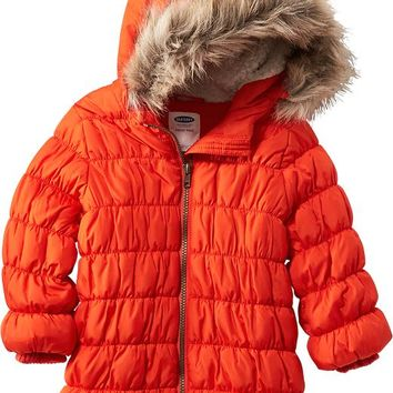 Old Navy Hooded Puffa Jacket For Baby