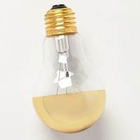 Half Gold Light Bulb  by Anthropologie Gold One Size Lighting