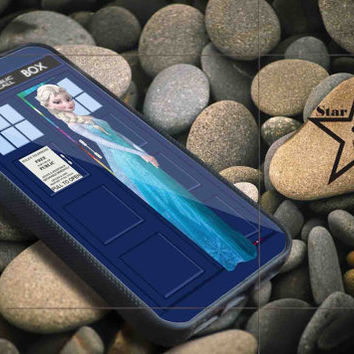 Disney Frozen Elsa on tardis iPhone Case, iPhone 4/4S, 5/5S, 5c, Samsung S3, S4 Case, Hard Plastic and Rubber Case By Dsign Star 08