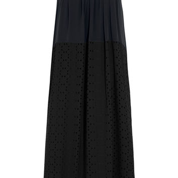 Madewell - Sola cutout georgette and silk-crepe dress
