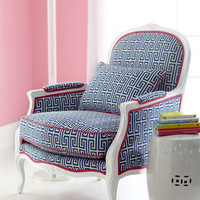 "Lilly Pulitzer Home - ""Johanna"" Upholstered Armchair - Horchow"