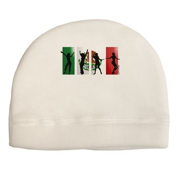 Mexican Flag - Dancing Silhouettes Child Fleece Beanie Cap Hat by TooLoud