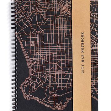Los Angeles City Map Notebook