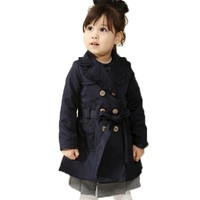 EGELEXY Kids Girls Classic Wind Coats Slim Outwear Jacket Peacoat Trench Coat