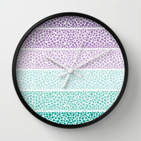 Riverside Colored Pebbles Wall Clock by Pom Graphic Design