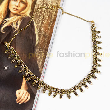 Isac Statement Necklace Gold