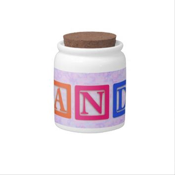 Block Letters Candy Jar