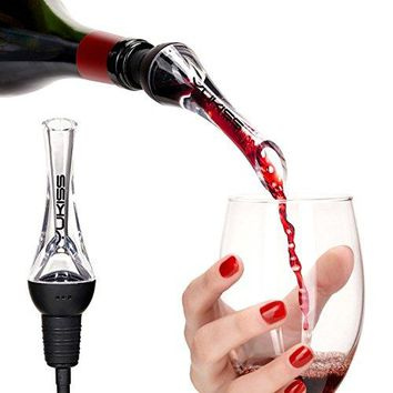 YoKis Wine Aerator Premium Wine Decanter Pourer and Breather Excellent for Whiskey Red Wine  Wine Dispenser and Spout  Gift Set for Him and Her