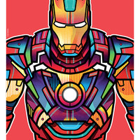 """Avengers Portraits: Iron Man"" by Van Orton Design"