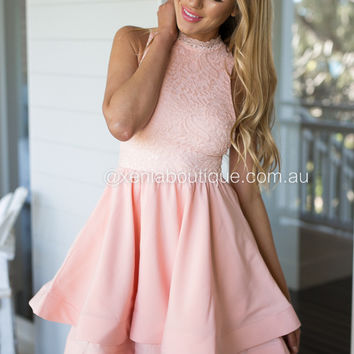 Wilde Willow Lace Dress (Peach)