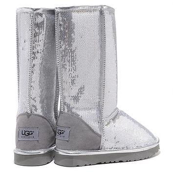 Ugg Women Fashion Sequins Wool Snow Boots Shoes
