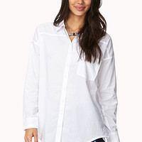 Classic Longline Button Down | FOREVER 21 - 2000092030