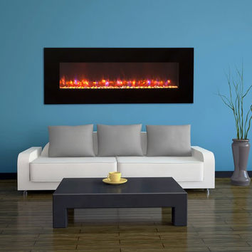"""70"""" High Definition Linear LED Wall Mounted Electric Fireplace"""