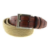 Tommy Bahama Mens Braided Leather Trim Casual Belt