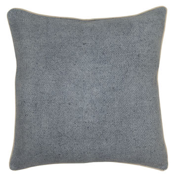 Willow Basket Weave Pillow in Slate Blue design by Villa Home