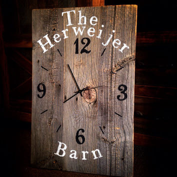 CUSTOM Barn Wood Wall Clock