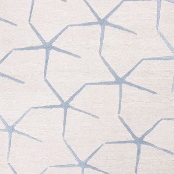 Coastal Living Hand Tufted Collection Starfishing Rug in Ivory design by Jaipur