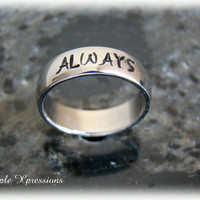 Hand Stamped 5mm Shiny Name Ring