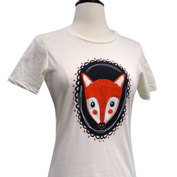 FOX T Shirt - Red Fox Cameo Ladies Shirt - Available in sizes S, M, L, XL