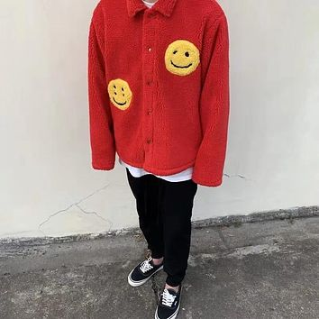 Smiley Face Fleece Jacket